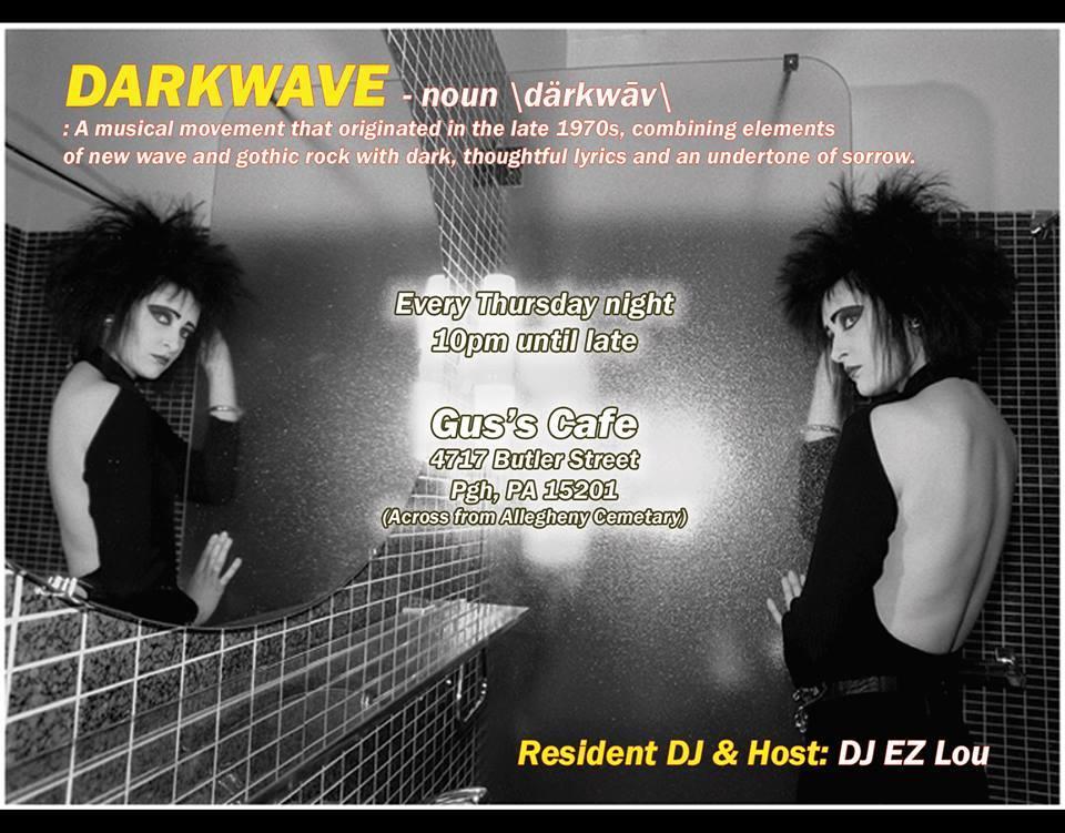 Thu Oct 16th DARKWAVE night w/ Cutups @ Gus's