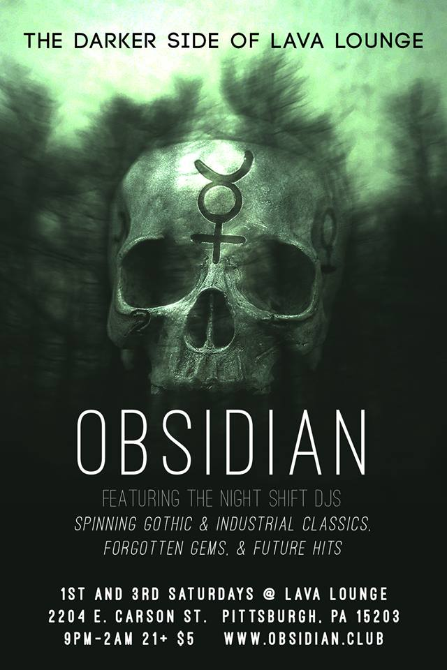 Sat Nov 7th OBSIDIAN goth night w/ DJ TFS & Cutups @ Lava Lounge