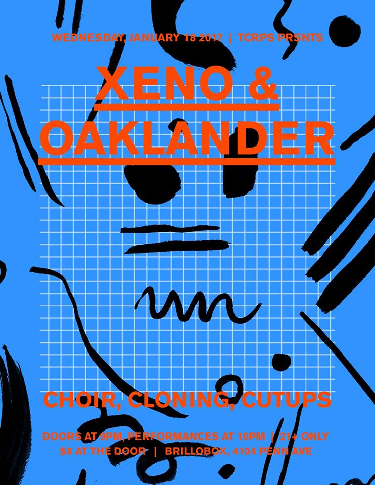 Wed Jan 18th Xeno & Oaklander [Ghostly International] with Choir and Cloning