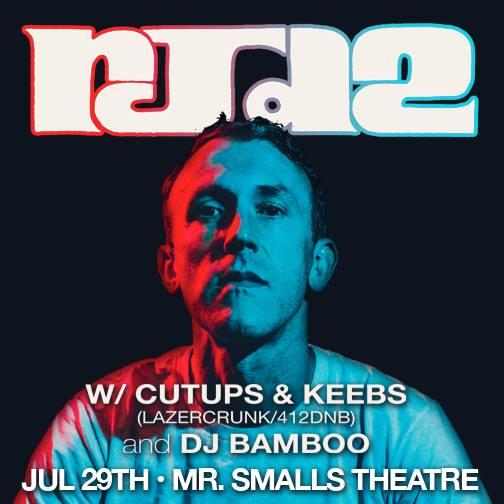 Sat July 29th RJD2 + Cutups & Keeb$, Petey C and Bamboo @ Mr Smalls