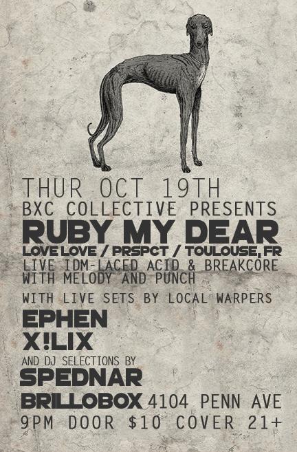 Thu Oct 19thBxC pres RUBY MY DEAR (Love Love FR) Ephen, X!lix, Spednar