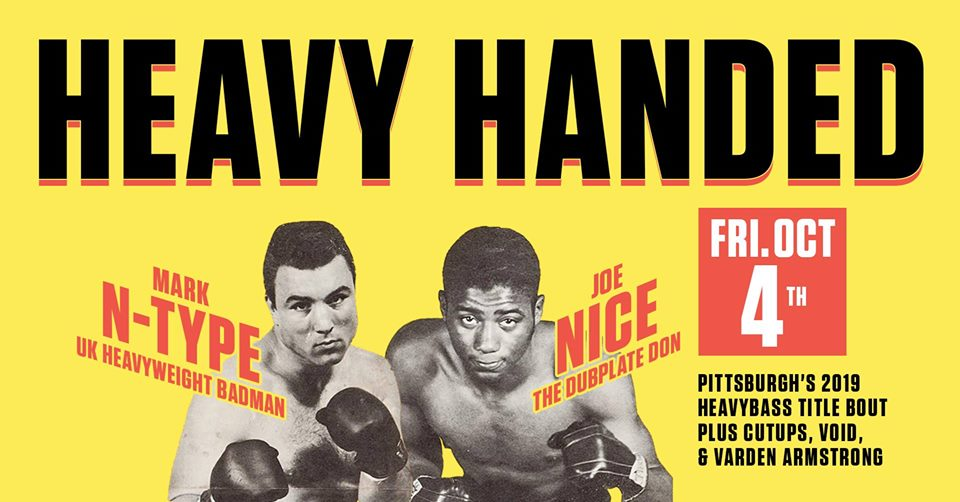Fri Oct 4th Heavy Handed w/ N-Type & Joe Nice! @ Cattivo