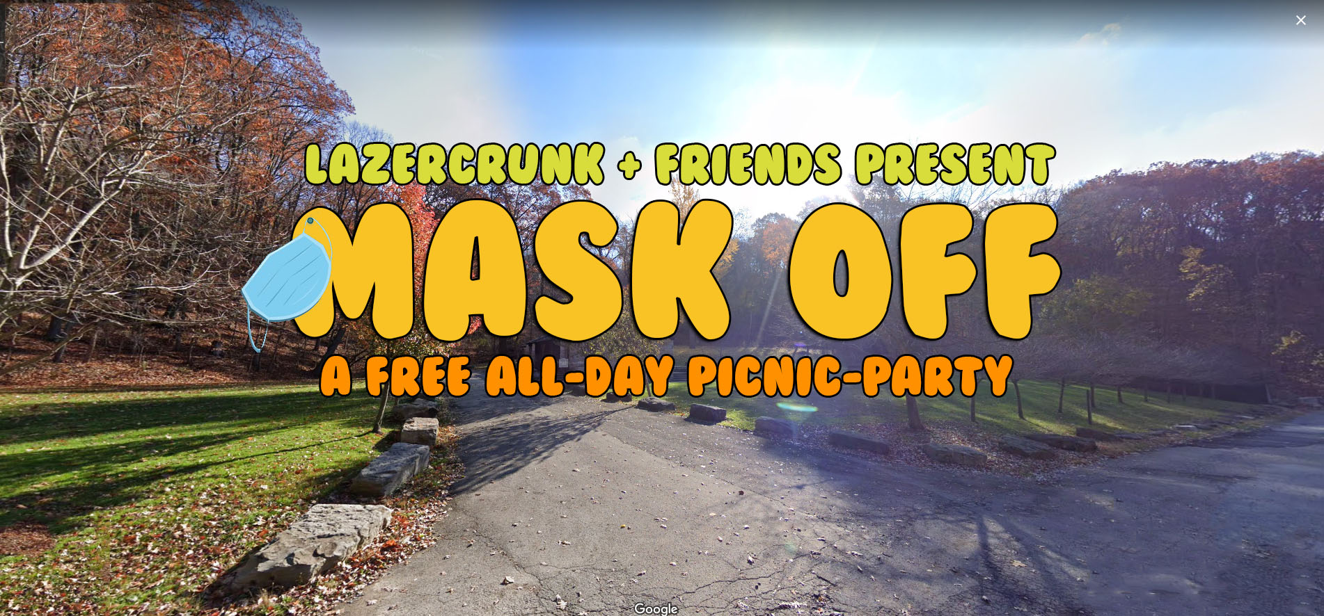 Sat July 31st MASK OFF a free picnic party in the park